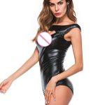 JANLY Femmes Set Sexy O Cou Clubwear En Cuir Artificiel Siamois Sous-Vêtements Body de la marque Janly image 2 produit