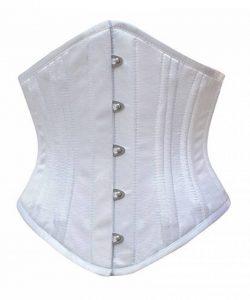 JapanAttitude Serre taille corset satin blanc pointu authentique métal élégant gothique de la marque JapanAttitude image 0 produit