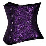 JapanAttitude Serre taille corset violet à motif vintage métal gothique 209 de la marque JapanAttitude image 1 produit
