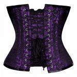 JapanAttitude Serre taille corset violet à motif vintage métal gothique 209 de la marque JapanAttitude image 2 produit