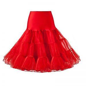 """Jupon années 50 vintage en tulle raffiné Rockabilly Petticoat longueur 66cm/26"""" Robe Tutu de la marque Lidory image 0 produit"""