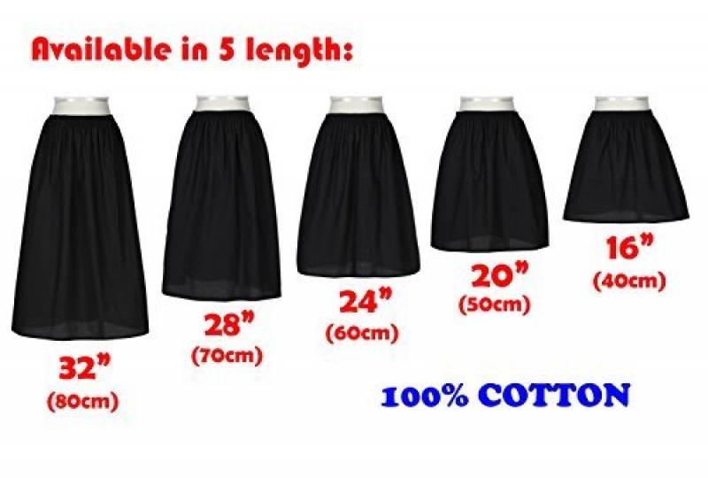 c123415aaaee Femme Jupon Lingerie Sous-Jupe Robe Coton Blanc Noir Ivoire Court Mi-long  Pour Marige Fille de la marque BEAUTELICATE