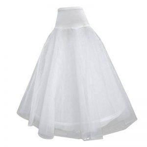 Jupon Crinoline Long pour Robe de Mariée 1-Cerceau 2-Couches Blanc de la marque Générique image 0 produit
