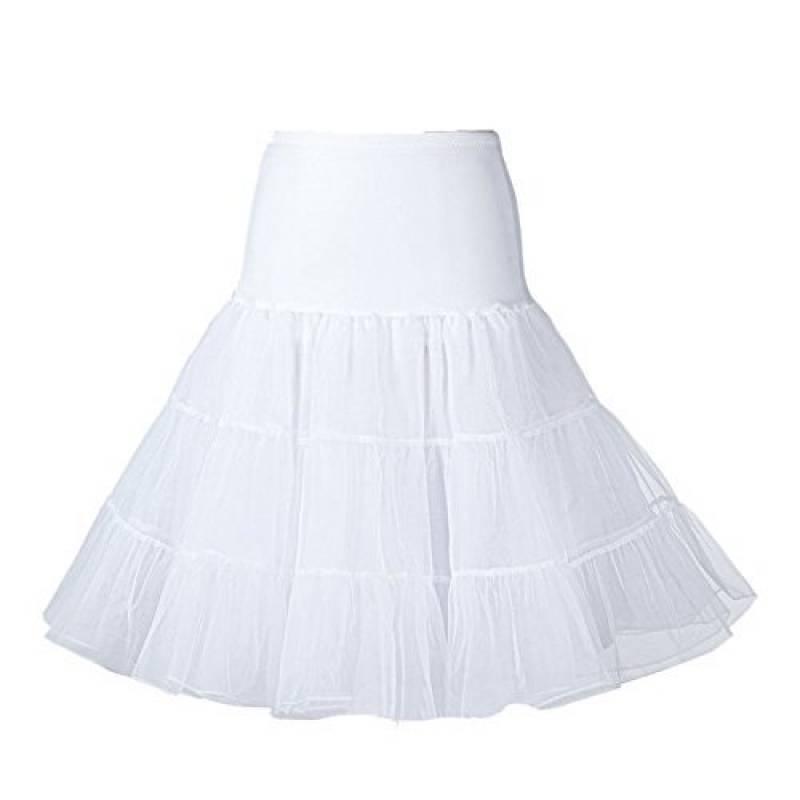Vetements Jupes Grace Karin Femme Jupon Taille Elastique Vintage Annee 50 Rockabilly Dentelle Sous Robe Petticoat Court De Danse Ballet Sou L Jp