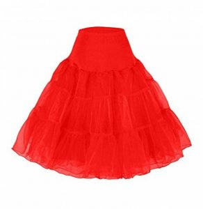 Jupons crinolina hoopless jupe tulle tutu 50s abito Jupon tulle rockabilly retro underskirt battente vintage petticoat Jupons Rock Roll 50s Vintage retro jupon bal de promo jupon tulle court de la marque Happydress® image 0 produit