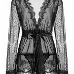 Kimono Erotique Femme Nuisette Dentelle Manche longue 3 Pcs de la marque ZIYI image 4 produit