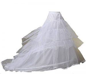 kivie jupon de mariage crinoline Jupe Robe de mariée, 2 Cerceau,avec le Train,Taille Unique,Adéquat pour XS-XXL de la marque kivie image 0 produit