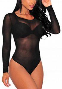 La Vogue Body Transparent Manche Longue Combinaison Nuit Femme Moulant de la marque La Vogue image 0 produit