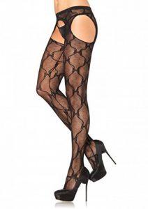 Leg Avenue Collant Ouvert Jarretelle Ruban Noir Taille Unique de la marque Leg Avenue image 0 produit