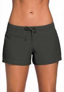 Leslady Tankini Shorty Shorts de Bain Uni Femme Casual Elastique Boxer de la marque Leslady image 0 produit