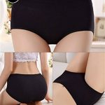 LHZY Womens Filles Coton Basique Sous-Vêtements Mi taille Culotte pleine Briefs Pack de 4 de la marque LHZY image 2 produit