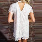 Lolittas Robe ��❤Robe En Dentelle à Manches Courtes��❤Lolittas Blanc Robe De PéTale D'éTé à Manches Courtes En Dentelle Douce Femme de la marque Lolittas Robe image 3 produit