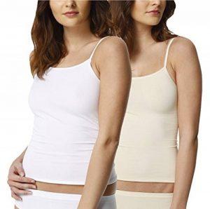 Lot de 2 - Femmes lingerie - Spaghetti Top - maillot de corps - Seamless de la marque Yenita® image 0 produit