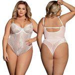 MarysGift Femmes Dentelle Bodys Tops Combinaison Dos Nu Bodysuit Jumpsuit de la marque marysgift image 5 produit