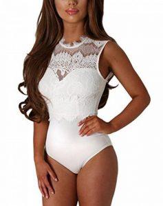 MAX MALL Femmes Dentelle Bodys Tops Combinaison Dos Nu Bodysuit Jumpsuit de la marque Max mall image 0 produit