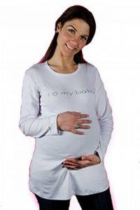 merrymama- T-shirt de grossesse avec manches longue Blanc, Taille unique de la marque Merrymama image 0 produit