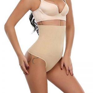 MISS MOLY Culotte sculptante Femme Effet Minceur Slim String Bodyshaper Sexy Noir & Beige Panties Shaping de la marque MISS MOLY image 0 produit