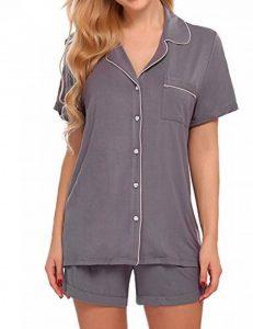 Modfine Costume de Pyjama pour Femme Décontracté Manches Courtes Col Rabattu avec Short de la marque Modfine image 0 produit