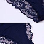 Modfine Femme Body Ouvert Col V Bretelle Nuisette Babydoll Justaucorps Lingerie de la marque Modfine image 4 produit