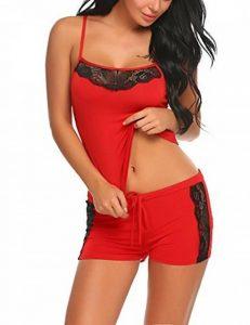 Modfine Femme Dentelle Bodys Tops Combinaison Dos Nu Bodysuit Jumpsuit de la marque Modfine image 0 produit