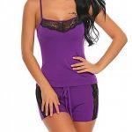 Modfine Femme Dentelle Bodys Tops Combinaison Dos Nu Bodysuit Jumpsuit de la marque Modfine image 3 produit