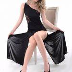 Mounter Ensemble de Lingerie , 2018 Femmes lingerie brevet en cuir Clubwear mini robe élastique de la marque Mounter image 3 produit