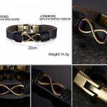 MULBA Hommes Vintage gainé de cuir Wristband Rope Bracelet Sl3363(infinity bracelet) de la marque MULBA image 4 produit