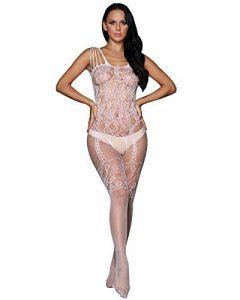 Romacci Femme Sexy Combinaison De Lingerie Dentelle Vêtement De Nuit Babydoll Coquine Noir/Blanc de la marque Romacci image 0 produit