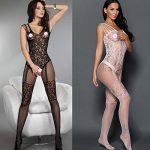 Romacci Femme Sexy Combinaison De Lingerie Dentelle Vêtement De Nuit Babydoll Coquine Noir/Blanc de la marque Romacci image 3 produit