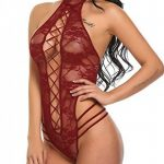 Scallop Femme Lingerie Sexy Body Dos Nu Nuisette Babydoll Dentelle Sous-vêtements De Nuit Col Halter de la marque Scallop image 3 produit