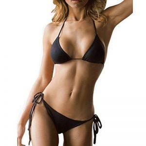 SHERRYLO 10 Solid Color Women's Thong Bikini Set Maillot De Bain Pour Femme For S-XL Body de la marque SHERRYLO image 0 produit
