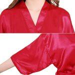 Sidiou Group Peignoir Satin Robe de Chambre Kimono Femme Sortie de Bain Nuisette Déshabillé Vêtements de Nuit femme Satin Lingerie Dentelle Peignoir Robes de Mariée de la marque Sidiou Group image 3 produit
