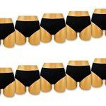 sockenkauf24 Lot de slips/ culottes pour femme en microfibre- Noir- Lingerie spéciale ventre plat de la marque Sockenkauf24 image 1 produit