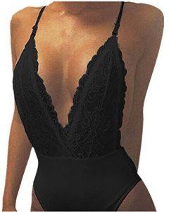 StyleDome Femme Body Dentelles Crochet Sandales Dos Nu Halter Combishort Jumpsuit de Plage de la marque StyleDome image 0 produit