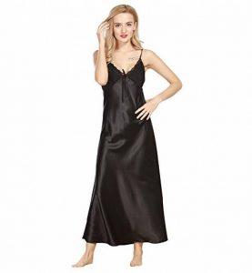 Surenow Nuisette Robe de chambre Chemise de Nuit Longue Lingerie Sling en Satin Sexy Uni Eté Pour Femme de la marque Surenow image 0 produit
