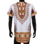 T-Shirt Africain, Malloom Chemise à Manches Courtes à Manches Courtes pour Hommes de la marque Malloom®_Vêtements image 3 produit
