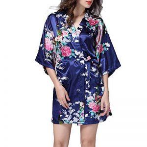 TIAQUE Femmes de Satin de Soie Kimono Sexy Robe Meignoir Lisse Pyjama Longue Courte Taille de la marque TIAQUE image 0 produit