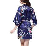 TIAQUE Femmes de Satin de Soie Kimono Sexy Robe Meignoir Lisse Pyjama Longue Courte Taille de la marque TIAQUE image 2 produit