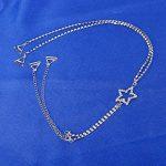 tininna–Femmes étoile strass diamant dos nu Convertisseur bretelles de soutien-gorge soutien-gorge Rallonge de soutien gorge pour rallonge Weiß de la marque TININNA image 3 produit