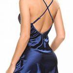 Touchlover Femme Nuisette Robe Bretelle Lingerie Satin Babaydoll Dentelle Chemise de Nuit Sexy Avec G-String de la marque Touchlover image 4 produit