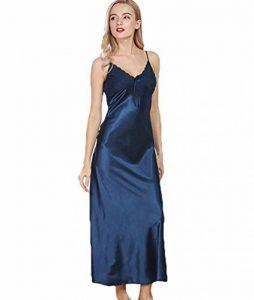 WanYang Femmes Peignoir Col V Pyjama Vêtement Classique Femme Satin Déshabillé Dentelle de la marque WanYang image 0 produit