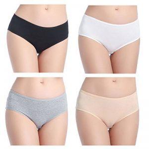 Wirarpa Culottes Femmes Taille Basse Shorty Femme Coton Slip Féminin Lot de 4 de la marque Wirarpa image 0 produit