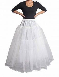 XYX Jupon crinoline hoopless mariage jupon crinoline bal de promo robe de mariée robe de bal mariage 3 couches sans cerceau crinoline glissement robe glissement de mariage bal underskirt de la marque XYX image 0 produit