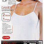 Yenita®. 2 pieces Maillot de corps - femme - discrètement brillant ruban de satin bordure, coton. de la marque Yenita® image 3 produit