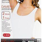 Yenita®. 2 pieces Maillot de corps - femme - discrètement brillant ruban de satin bordure, coton. de la marque Yenita® image 2 produit