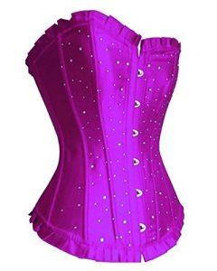 YipGrace Femme Rétro Palais Satin Corset Avec G-String de la marque YipGrace image 0 produit
