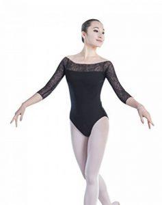 ZKOO Femmes Robe de Danse Manches Longues justaucorps Ballet Gymnastique de la marque ZKOO image 0 produit